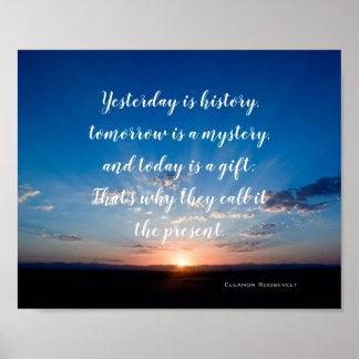 Poster Le lever de soleil est aujourd'hui une citation
