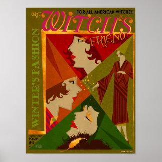 Poster Le magazine de novembre de l'amie de la sorcière