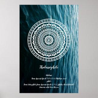 Poster Le mandala a laissé la mer vous placer libres