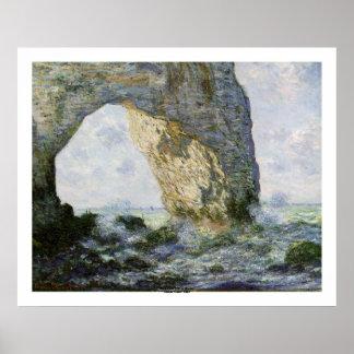 Poster Le Manneporte par Claude Monet