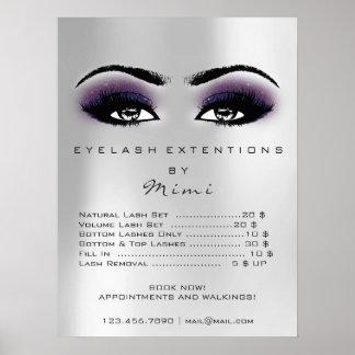 Poster Le maquillage violet de peau de gris argenté