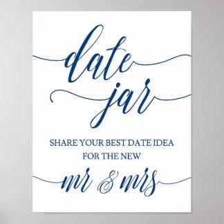 Poster Le mariage de pot de date signent dedans la