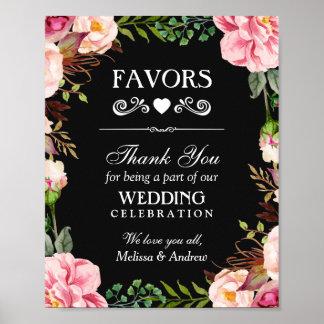 Poster Le mariage favorise au signe | de Merci la
