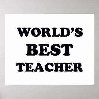 Poster Le meilleur professeur du monde