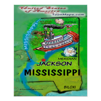 Poster Le Mississippi Etats-Unis