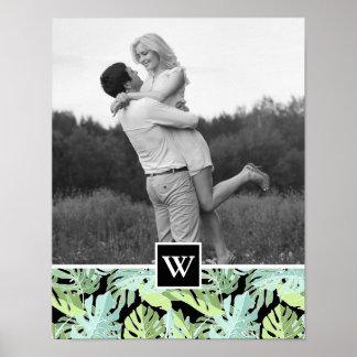 Poster Le motif floral | de jungle ajoutent votre photo
