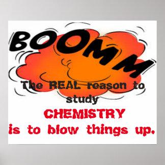 Poster Le motif réel d'étudier la chimie