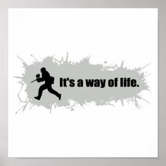Poster Le Paintball est un mode de vie
