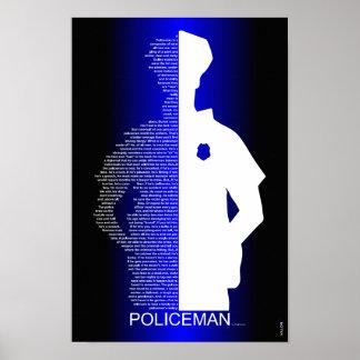 Poster Le policier