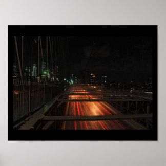 Poster Le pont de Brooklyn ne dort jamais