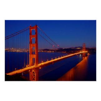 Poster Le pont iconique avec San Francisco