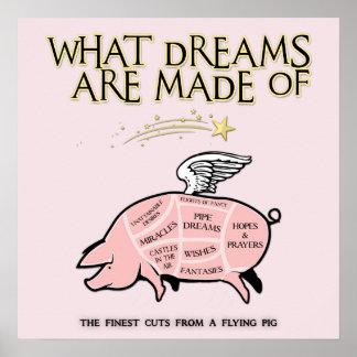 Poster Le porc de vol Coupe-Ce qui rêve sont faits de