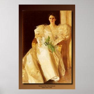 Poster Le portrait d'Anders Zorn de Mme Eben Richards