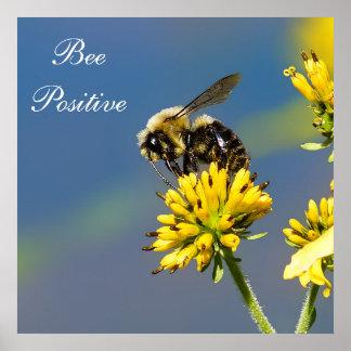 Poster Le positif d'abeille gaffent l'affiche d'abeille
