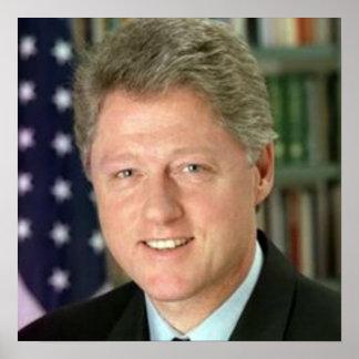 Poster Le Président Bill Clinton