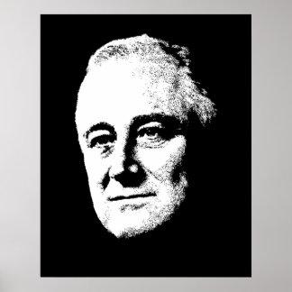Poster Le Président Roosevelt -- Noir et blanc