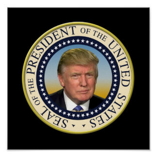 Poster Le Président Trump Photo Presidential Seal