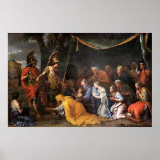 Poster Le Queens de Perse aux pieds d'Alexandre