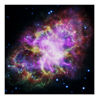 Poster Le rayon X de Chandra dans la nébuleuse de crabe