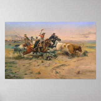 Poster Le renonceur de troupeau par Charles Marion