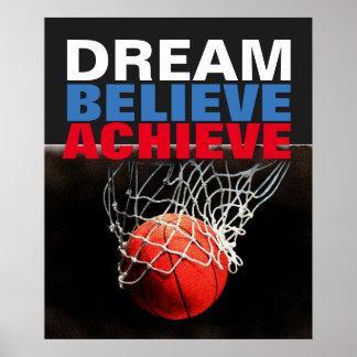 Poster Le rêve de motivation croient réalisent le