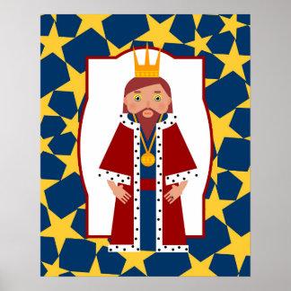 Poster Le Roi puissant Gifts de Moyens Âges pour des