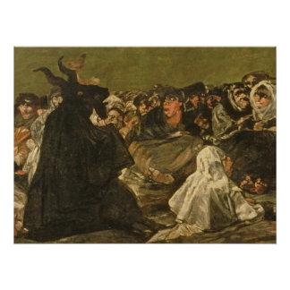 Poster Le sabbat ou la grande -chèvre des sorcières
