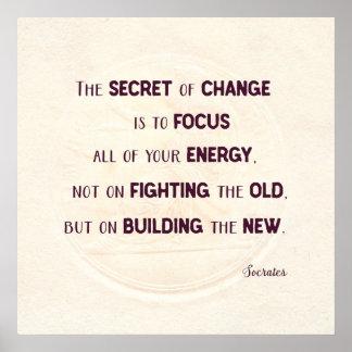Poster Le secret du changement