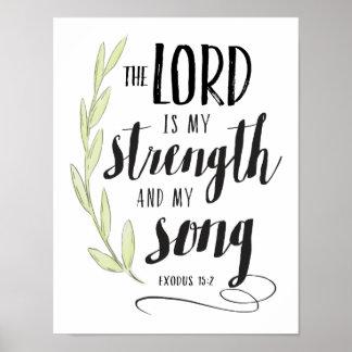 Poster Le seigneur est ma force et ma copie de chanson