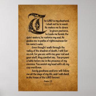 Poster Le seigneur est mon berger (psaume 23)