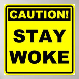 Poster Le séjour a réveillé la plaquette de signe