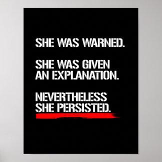 Poster Le sénateur Warren - néanmoins elle a persisté --