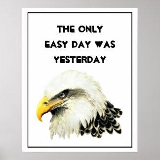 Poster Le seul jour facile était hier inspiré