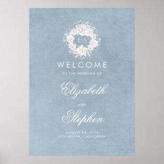 Poster Le souffle poussiéreux de bébé bleu épousant le