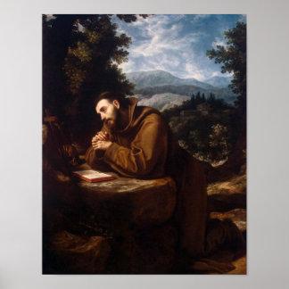 Poster Le St Francis dans la prière