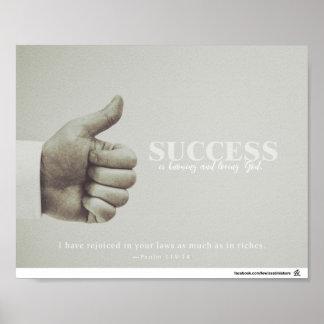 Poster Le succès sait et un DIEU affectueux