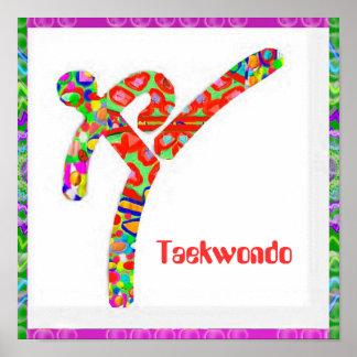 Poster Le TAEKWONDO - passe-temps, exercice, sports
