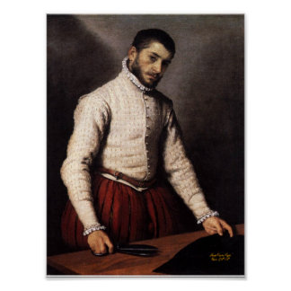 Poster Le Tailleur , The Tailor Giovanni Battista Moroni