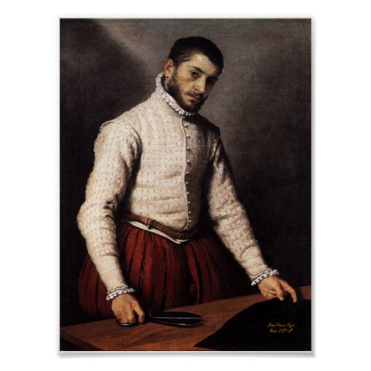 Poster Le Tailleur , The Tailor Giovanni Battista Moroni