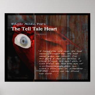 Poster Le texte de coeur de conte de dire