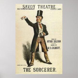 Poster Le théâtre Londres 1884 de la Savoie de ~ de