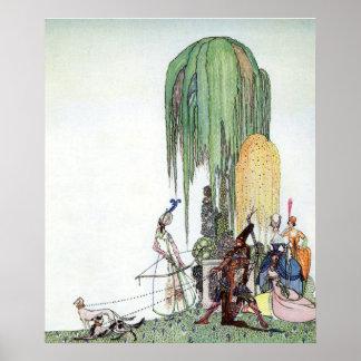 Poster Le tir à l'arc de la tsarine par Kay Nielsen