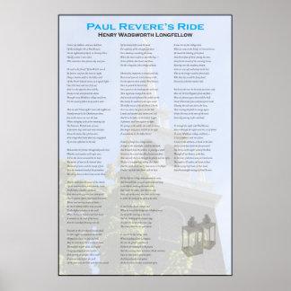 Poster Le tour de minuit de Paul Revere par Longfellow