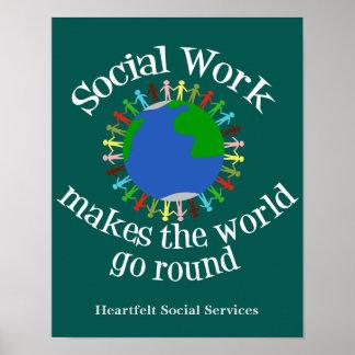 Poster Le travail social fait le monde tourner