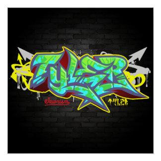Poster Le Tyler nommé dans le graffiti