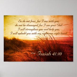 Poster Le vers de bible de 41:10 d'Isaïe ne craignent pas