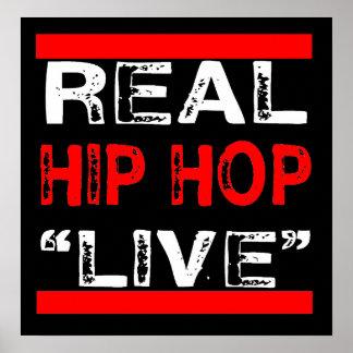 """Poster Le vrai hip hop """"VIVENT"""" affiche"""
