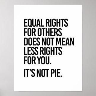 Poster L'égalité des droits n'est pas tarte - - la