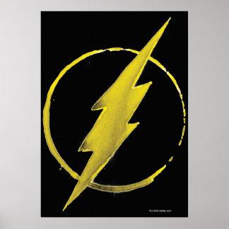 Poster L'emblème | jaune instantané de coffre