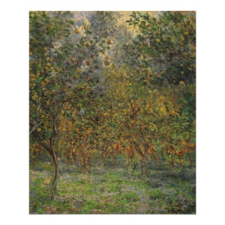 Poster Lemon Grove dans Bordighera par Claude Monet